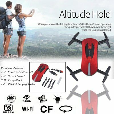 JY018 Mini Dron Foldable WiFi HD FPV Camera Quadcopter Selfie Drone RC DronesRED