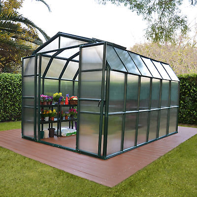 Rion Greenhouses Grand Gardener 2 Twin Wall 8 Ft. W x 12 Ft. D Greenhouse