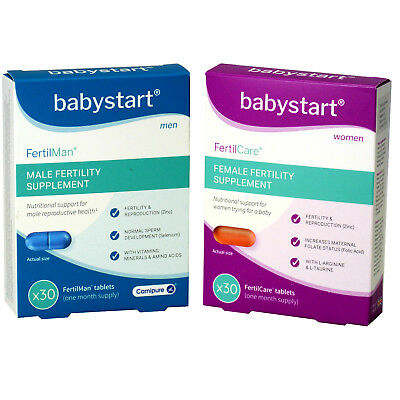 Fertility Vitamin Supplements Male & Female Packs - 60 Tablets One Month Supply