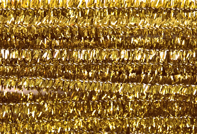 Gold Tinsel Chenille Sticks Pipe Cleaners 6mm x 30cm Trimits Crafts Pack of 20