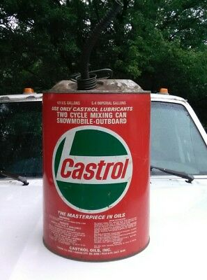 VINTAGE Old Castrol MOTOR OIL 6.5 US Gallon CAN