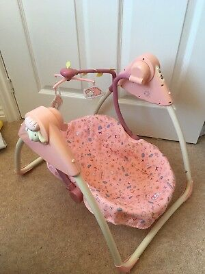 Zapf Creations Doll Baby Annabell Battery Swinging Chair Music