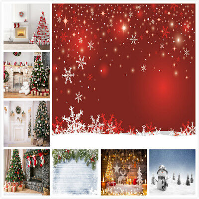 Christmas Vinyl Photo Background Snowflakes Backdrops for Party Decorations