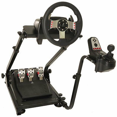 Racing Simulator Cockpit Driving Gaming Wheel Stand and Gear Shifter Mount