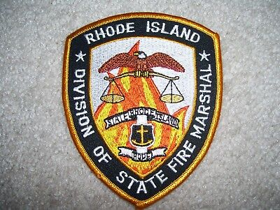 Rhode Island State Fire Marshal Patch