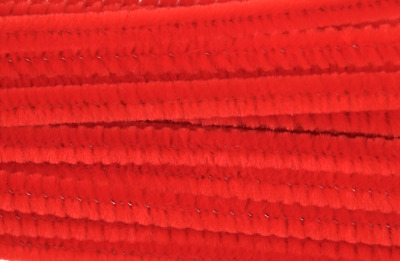 Red Jumbo Chenille Sticks Pipe Cleaners 12mm x 30cm Trimits Craft 15 Pack