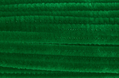 Green Jumbo Chenille Sticks Pipe Cleaners 12mm x 30cm Trimits Craft 15 Pack