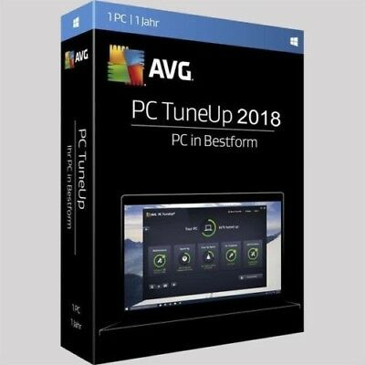 AVG PC TuneUp 2018 1 PC 1Jahr / TuneUp Utilities | Vollversion/Upgrade | UE DE