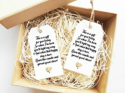 Baby Shower Favour Tags Candle Tags Gift Labels 15X