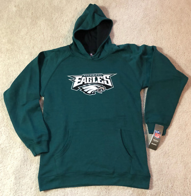 PHILADELPHIA EAGLES NFL Reebok Team Apparel Youth M  (10-12) Pullover Hoodie NEW