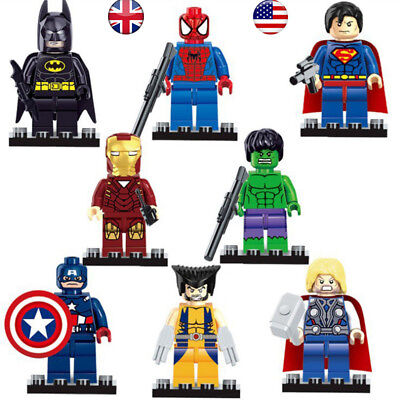 Super Heroes LEGO Minifigures Infinity War Marvel Avengers Figures 8 Blocks Set