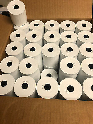 "50 Rolls 3-1/8"" x 230' Thermal Paper Cash Register Clover Station - Square POS"