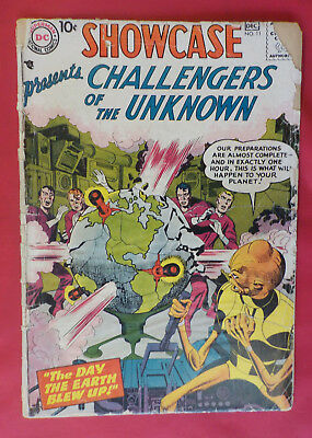 Showcase #11 ! DC 1957 ! ALL KIRBY ! 3rd CHALLS APPEARANCE EVER ! hayfamzone