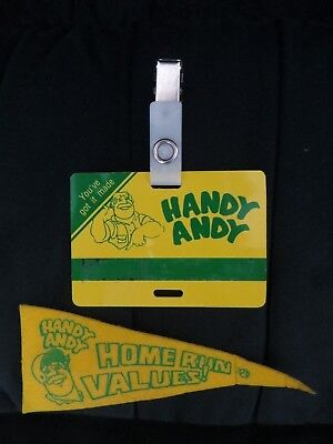 Handy Andy Home Improvement Center Name Tag and Promotional Pin-On