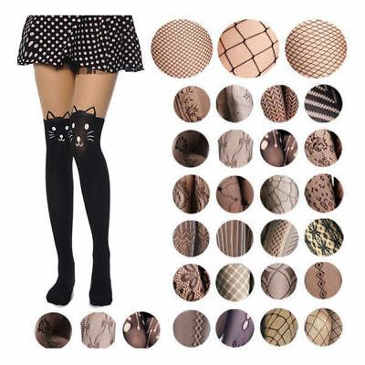 55 Style Women's Black Fishnet Net Pattern Jacquard Pantyhose Tights Stockings