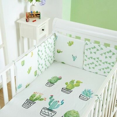 6pcs Baby Crib Bumper Soft Breathable Newborn Infant Bed Surround Protector Hot