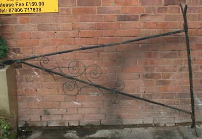 Very Large Antique Wrought Iron Wall Bracket