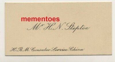 H.N. Steptoe Consular Service China c1930's Business Card