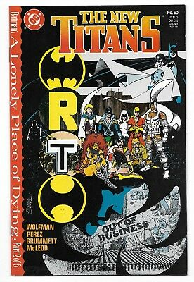 1989 The New Titans Comic #60 from DC Comics Marv Wolfman George Perez