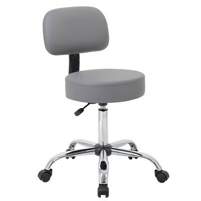 GRAY BLACK or BEIGE VINYL MEDICAL DENTAL TATTOO SALON STOOLS CHAIRS WITH BACK