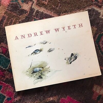SIGNED Andrew Wyeth Boston Museum Book Catalog 1st Edition Autographed Art MFA
