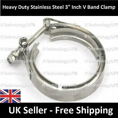 "PREMIUM Vauxhall Astra VXR Upgraded 3"" Exhaust V-Band Clamp - Stainless Steel"