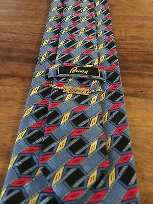 Vintage Mens Brioni Neck Tie Blue Made In Italy