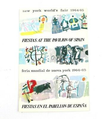 1964-1965 New York World's Fair Fiestas at the Pavilion of Spain