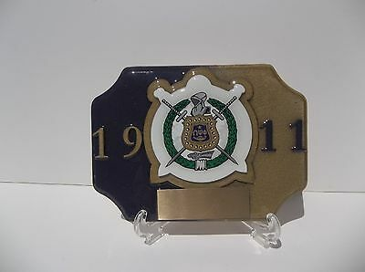 omega psi phi two desk trophy with stand and free engraving