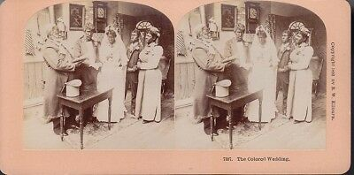 1892 Kilburn Stereoview Black American Negro Colored Wedding