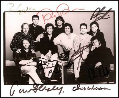 Dire Straits 1970's Rock Band Signed A4 Print