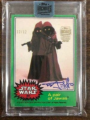 Star Wars Archives Signatures Rusty Goffe Auto Autograph 1977 Buyback 12/12