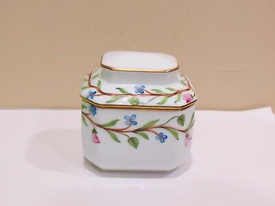 Herend Small Porcelain Floral Flowers Tea Caddy, 6083/C