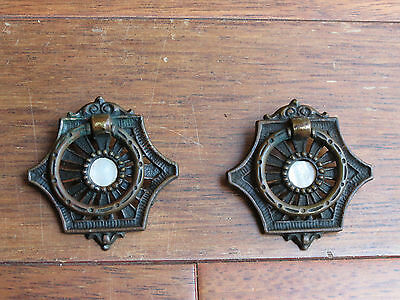A Pair of Antique Copper Drawer Pulls