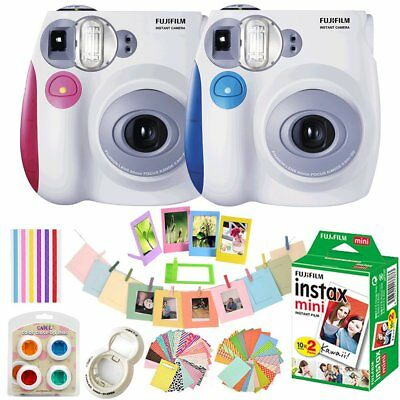 Fujifilm Instax Mini 7s Polaroid Film Camera Fuji Instant  / Photo Sheets / Kits