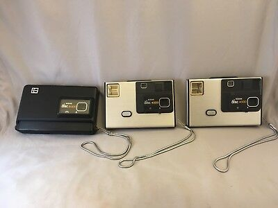 Lot of 3 Vintage Kodak Disc Camera 4000 6000 1 contains film