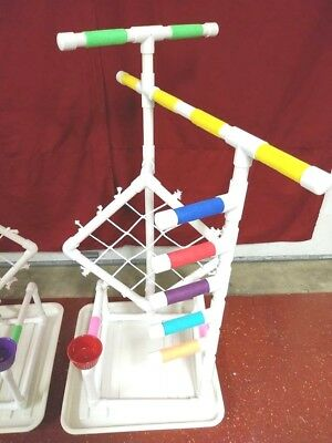 """38"""" Tall Climber 3/4"""" PVC Parrot Perch  Stand  Play Gym **FREE SHIPPING!*"""