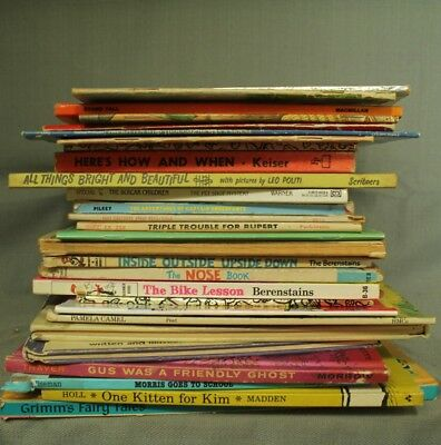 big lot vintage childrens books Gus was a Friendly Ghost Babar Berenstain Bears