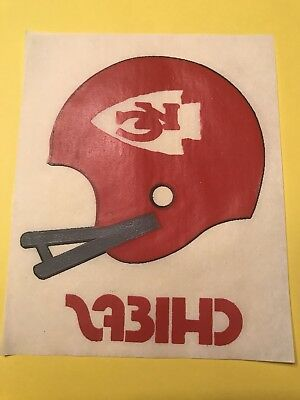"Vintage 1970s Kansas City Chiefs Iron on Transfer  4.75""Wx5.75""H (Lot #23)"