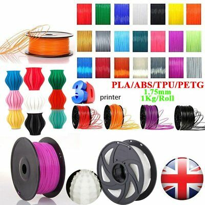 1.75mm 3D Printer Filament  PLA ABS Wood PETG TPU 1KG Engineer Drawing Art  TOP