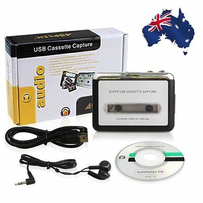 Tape to PC MP3 Ipod CD USB Cassette-to-MP3 Converter Capture Audio Music Pla PQ