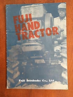 1962 Fuji Hand Tractor Catalog Brochure Fujii Seisakusho Co Ltd Vintage Japan