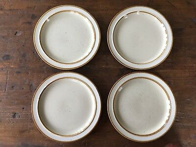 Vintage Retro Rainbow  Stoneware Pottery Side Plate Set Of 4 Capri Japan