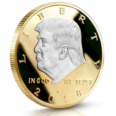 Donald Trump 2018 Two Tone Challenge Coin 40 MM Proof Mint Buy 2 Get 1 Free