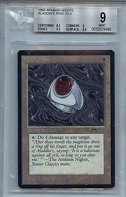 MTG Arabian Nights Aladdin's Ring BGS 9.0 (9) MINT Magic the Gathering 9490