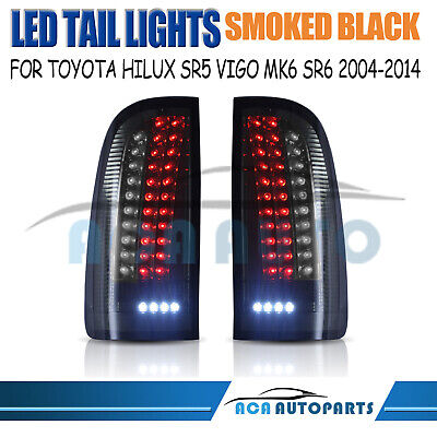 Smoked LED Tail Lights For Toyota Hilux Vigo SR5 SR6 MK6 MK7 Pickup Rear Lamps