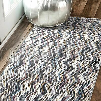 Ronda Herringbone Chevron Colourful Modern Floor Rug Runner 80x300cm *FREE DELIV