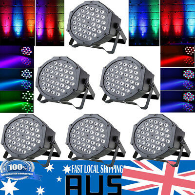 1-6X 72W 36 LED RGBW Sound Active Par Stage Strobe Light DJ Disco DMX-512 Party