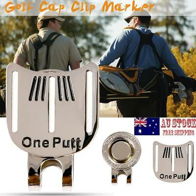 One Putt Magnetic Golf Hat Clip Golf Aiming Marker Alloy Golf Training Aids AU