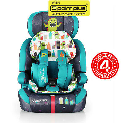 Cosatto Monster Arcade Zoomi Group 1 2 3 Car Seat Adjustable Carseat